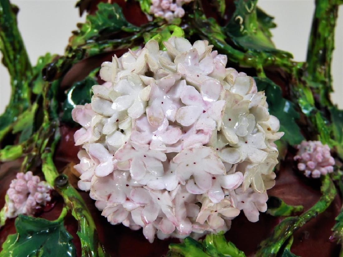 19C German Dresden Meissen Porcelain Snowball Vase - 7