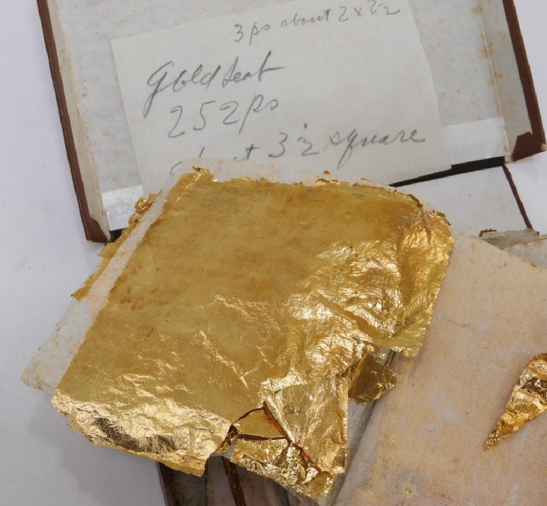 24KT Estate Found Gold Leaf Arts Crafts Painting