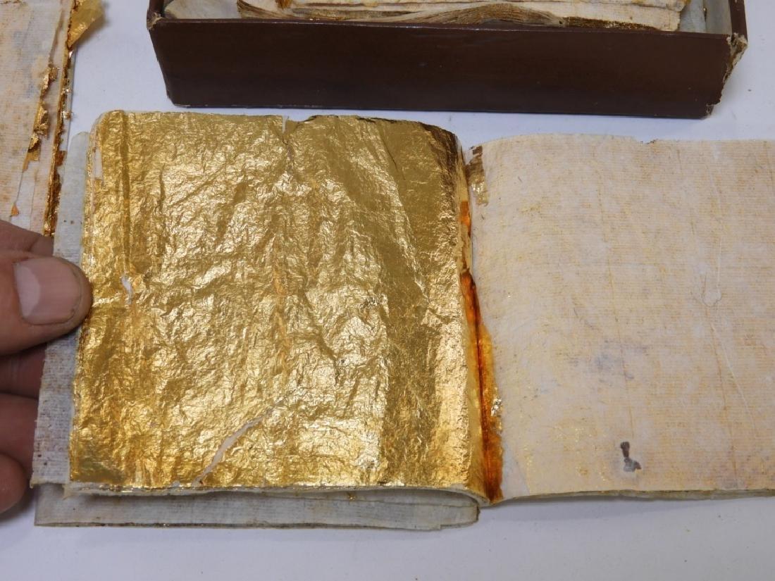 24KT Estate Found Gold Leaf Arts Crafts Painting - 5