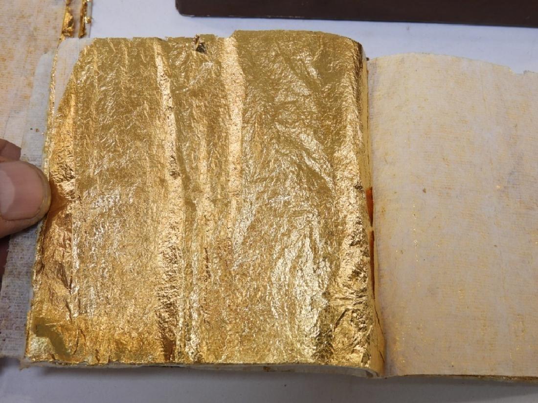 24KT Estate Found Gold Leaf Arts Crafts Painting - 6