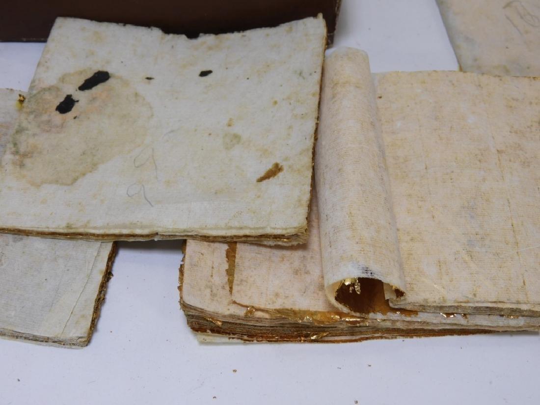 24KT Estate Found Gold Leaf Arts Crafts Painting - 7