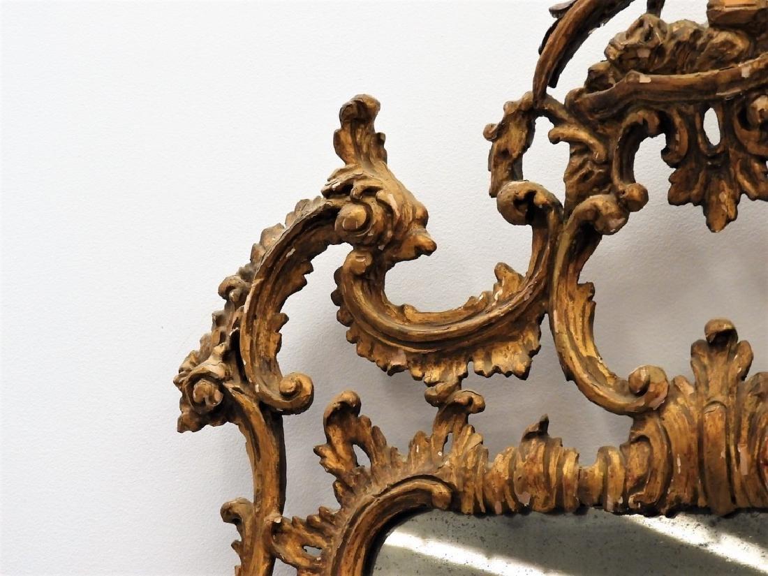 FINE 18C American Chippendale Chinoiserie Mirror - 4