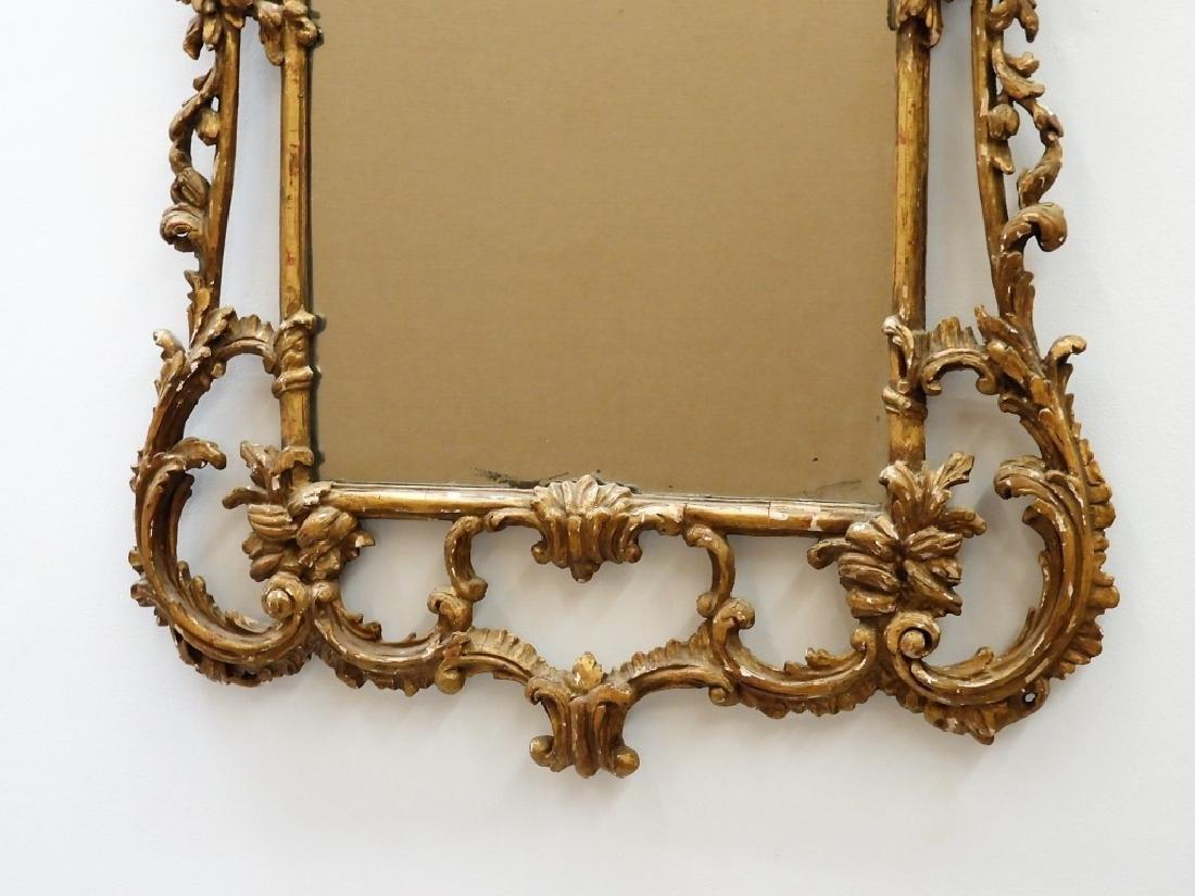 FINE 18C American Chippendale Chinoiserie Mirror - 5