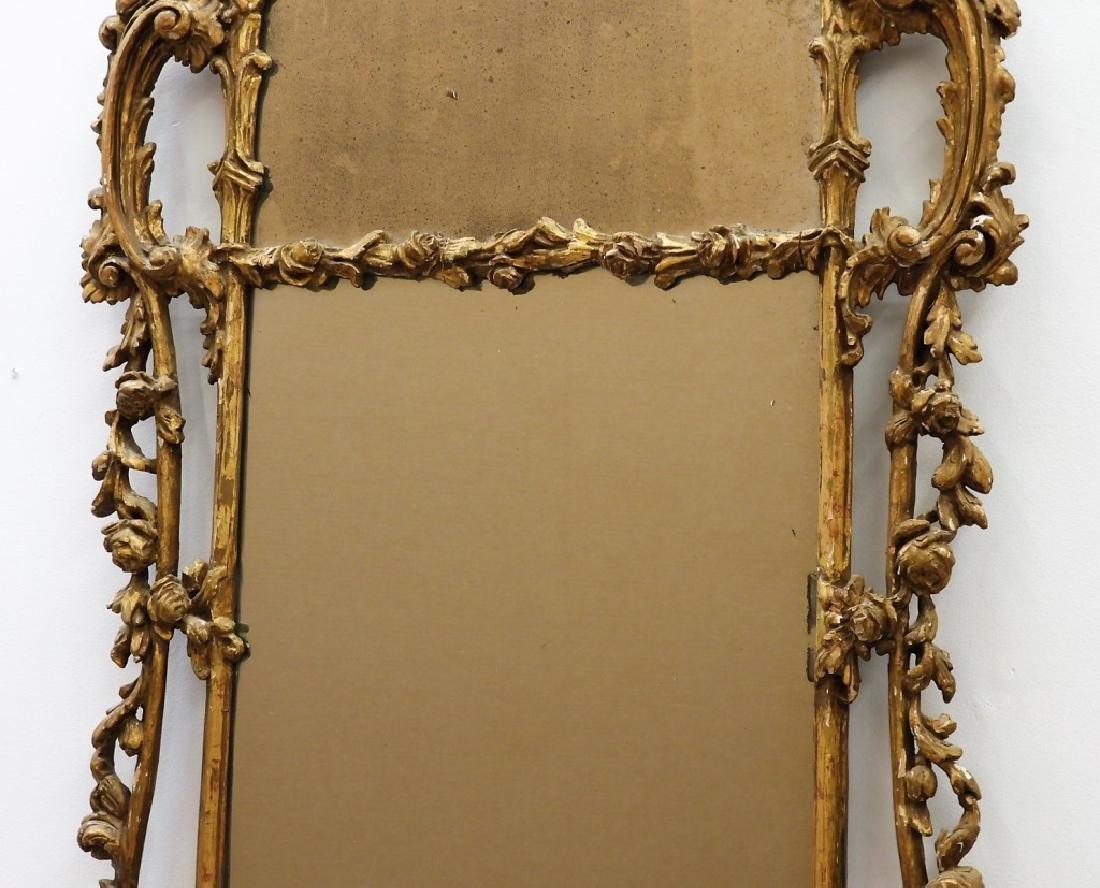 FINE 18C American Chippendale Chinoiserie Mirror - 6