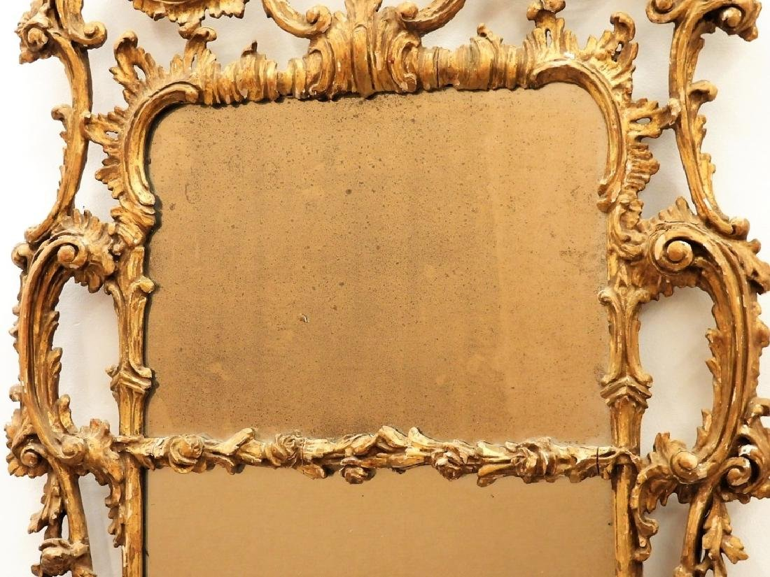 FINE 18C American Chippendale Chinoiserie Mirror - 7