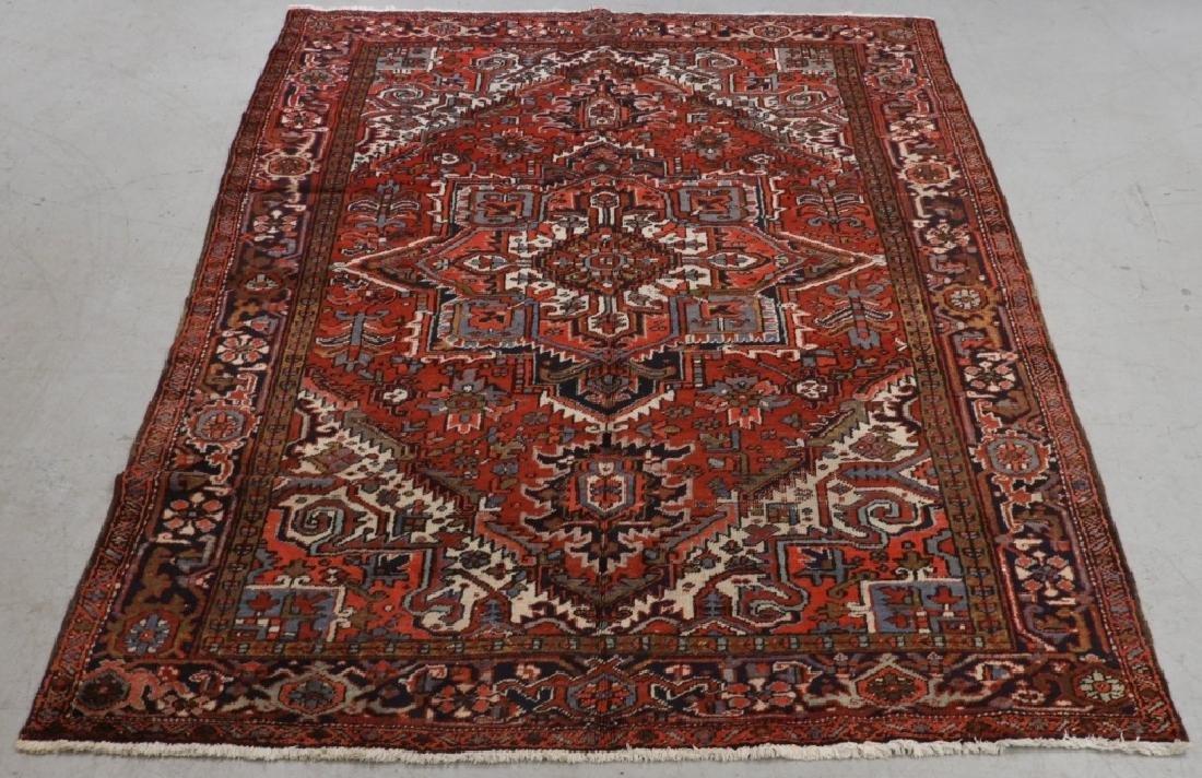 Persian Heriz Wool Carpet Rug