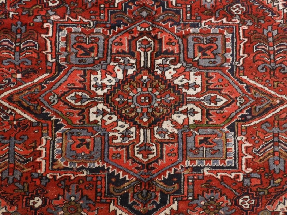 Persian Heriz Wool Carpet Rug - 2