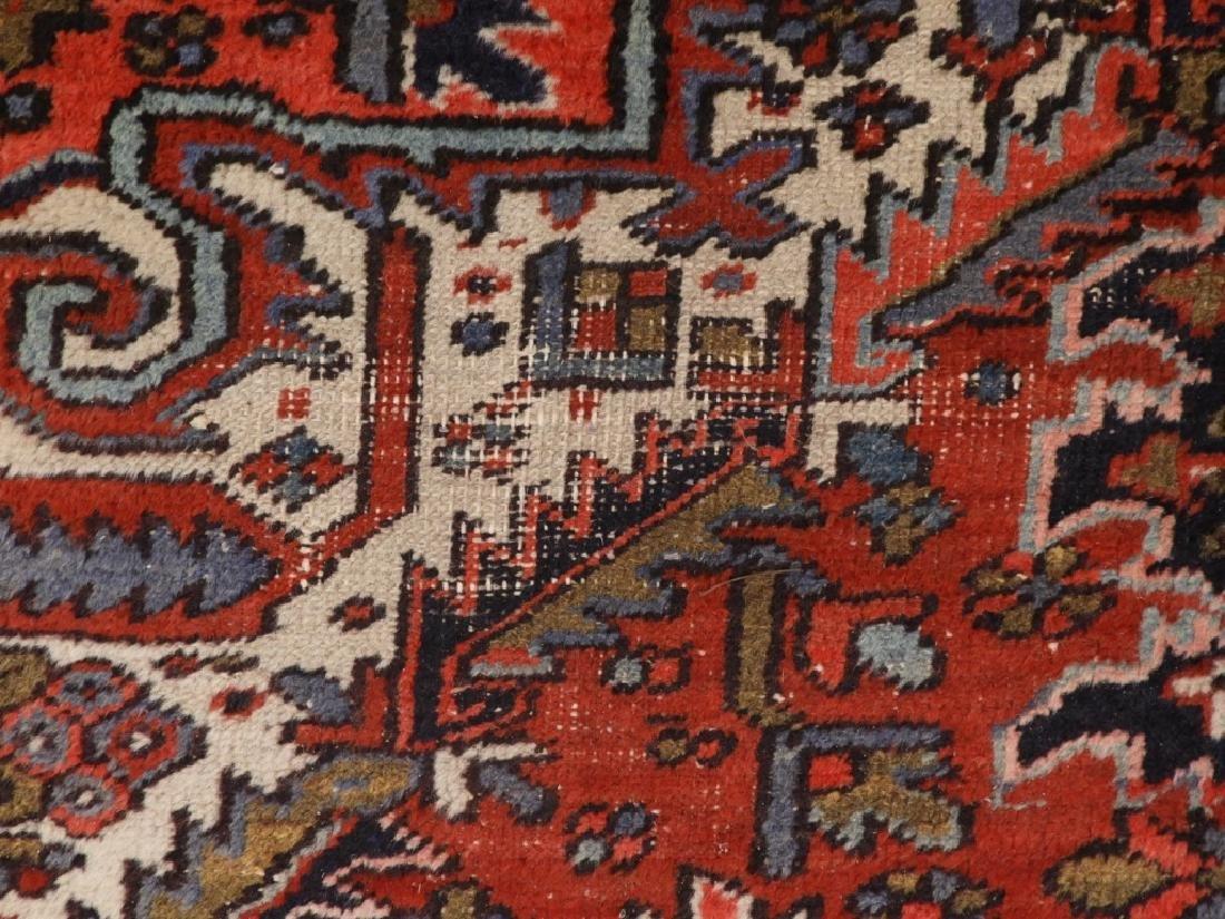 Persian Heriz Wool Carpet Rug - 5