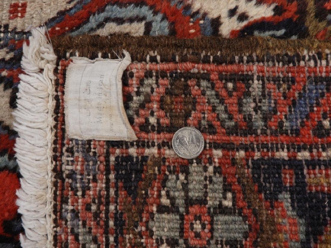 Persian Heriz Wool Carpet Rug - 7