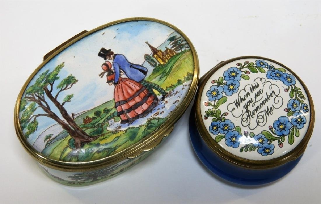 6 Bilston & Battersea Halcyon Days Enamel Boxes - 3