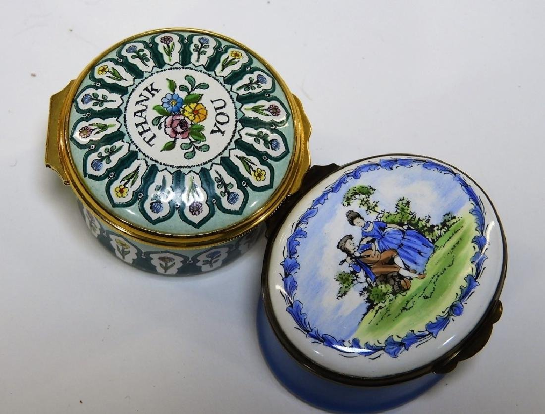 6 Bilston & Battersea Halcyon Days Enamel Boxes - 4