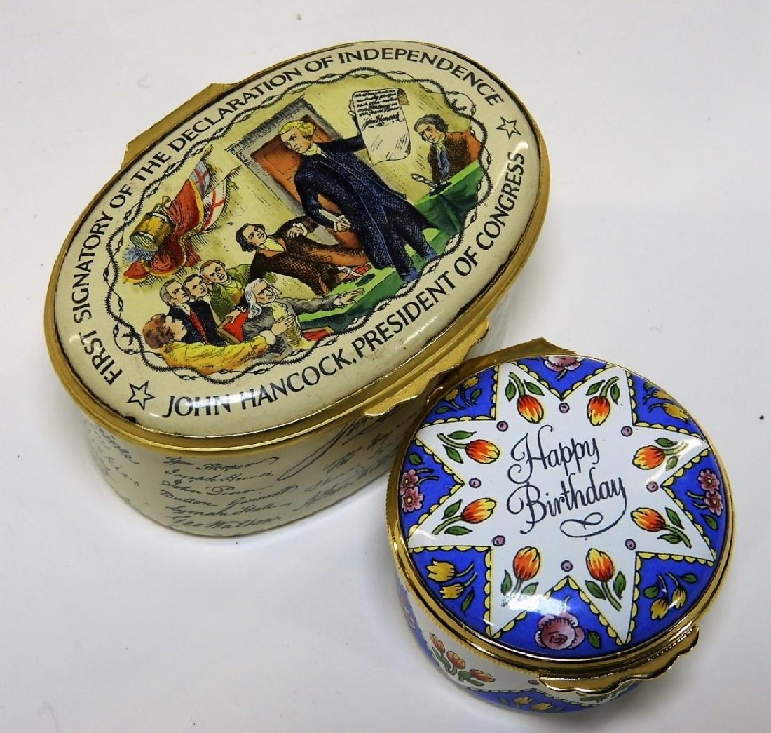 6 Bilston & Battersea Halcyon Days Enamel Boxes - 5