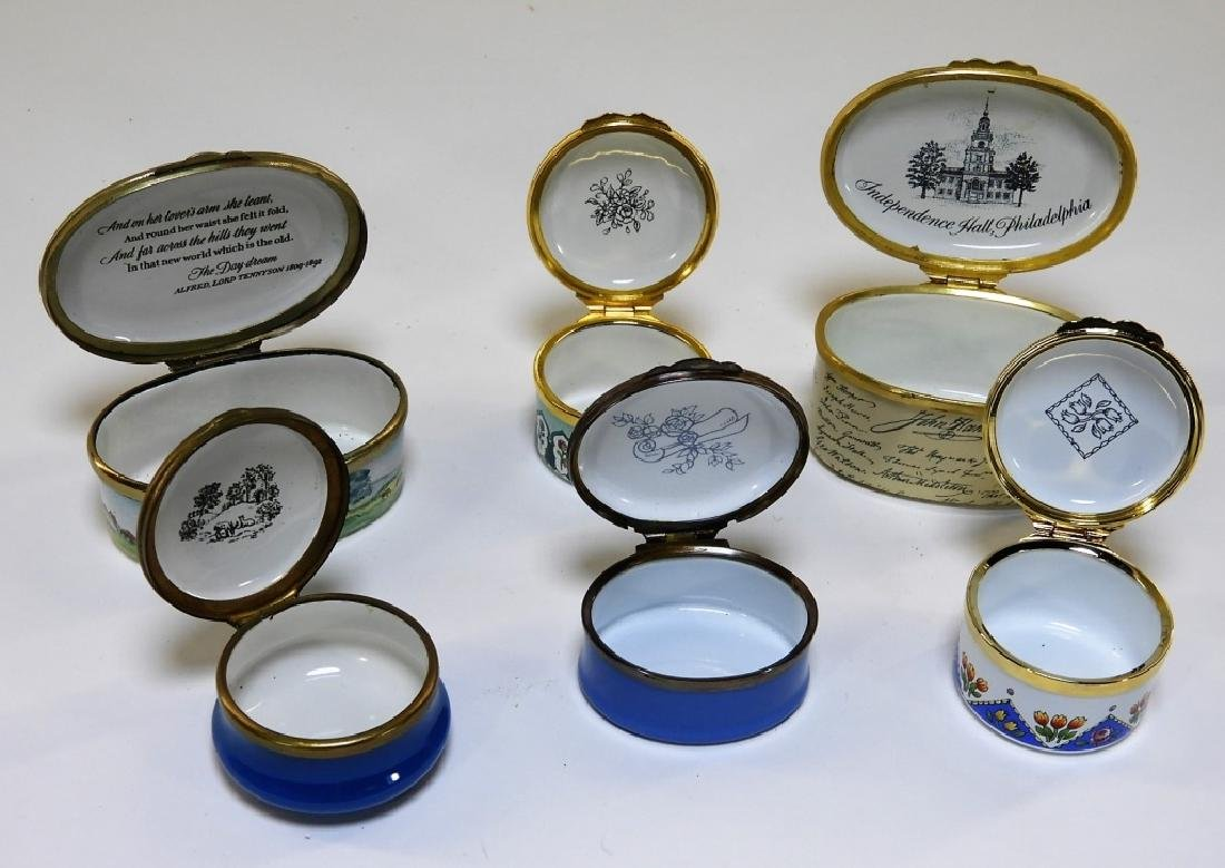 6 Bilston & Battersea Halcyon Days Enamel Boxes - 6