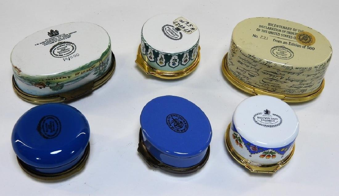 6 Bilston & Battersea Halcyon Days Enamel Boxes - 7