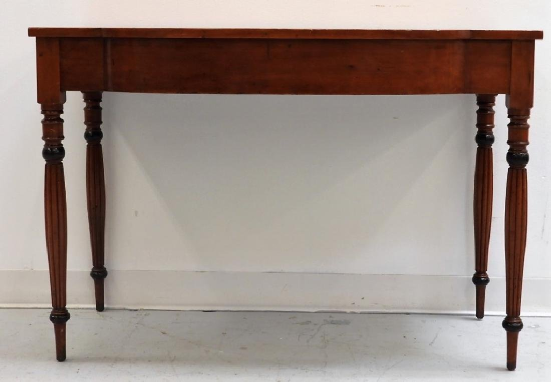 19C. American Sheraton Carved Cherry Console Table - 2