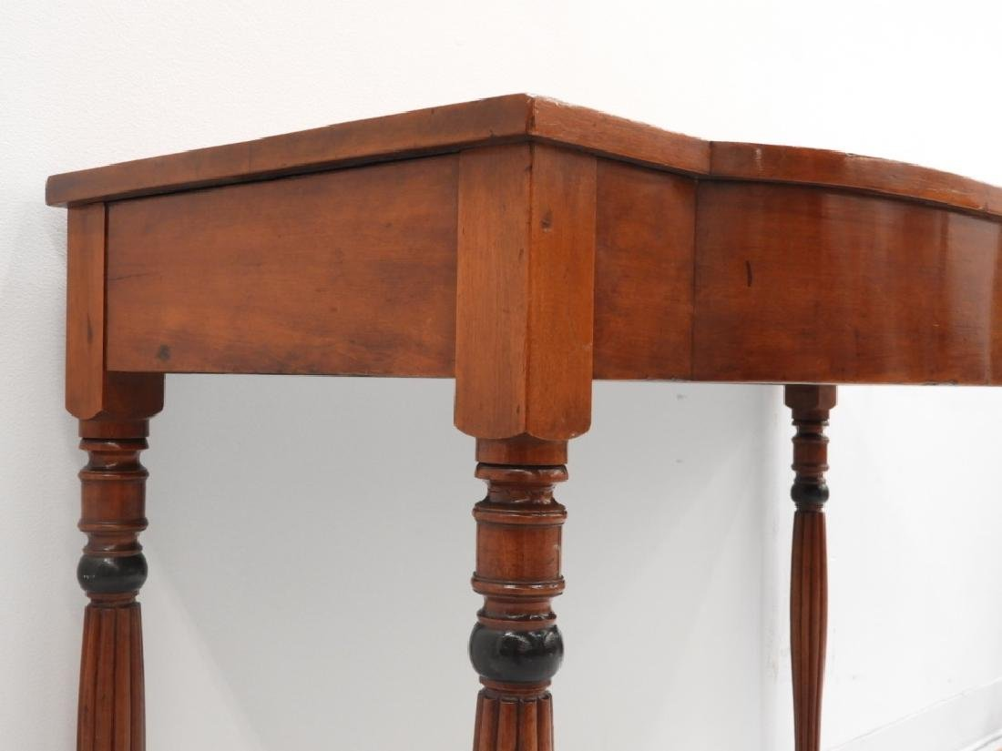 19C. American Sheraton Carved Cherry Console Table - 6