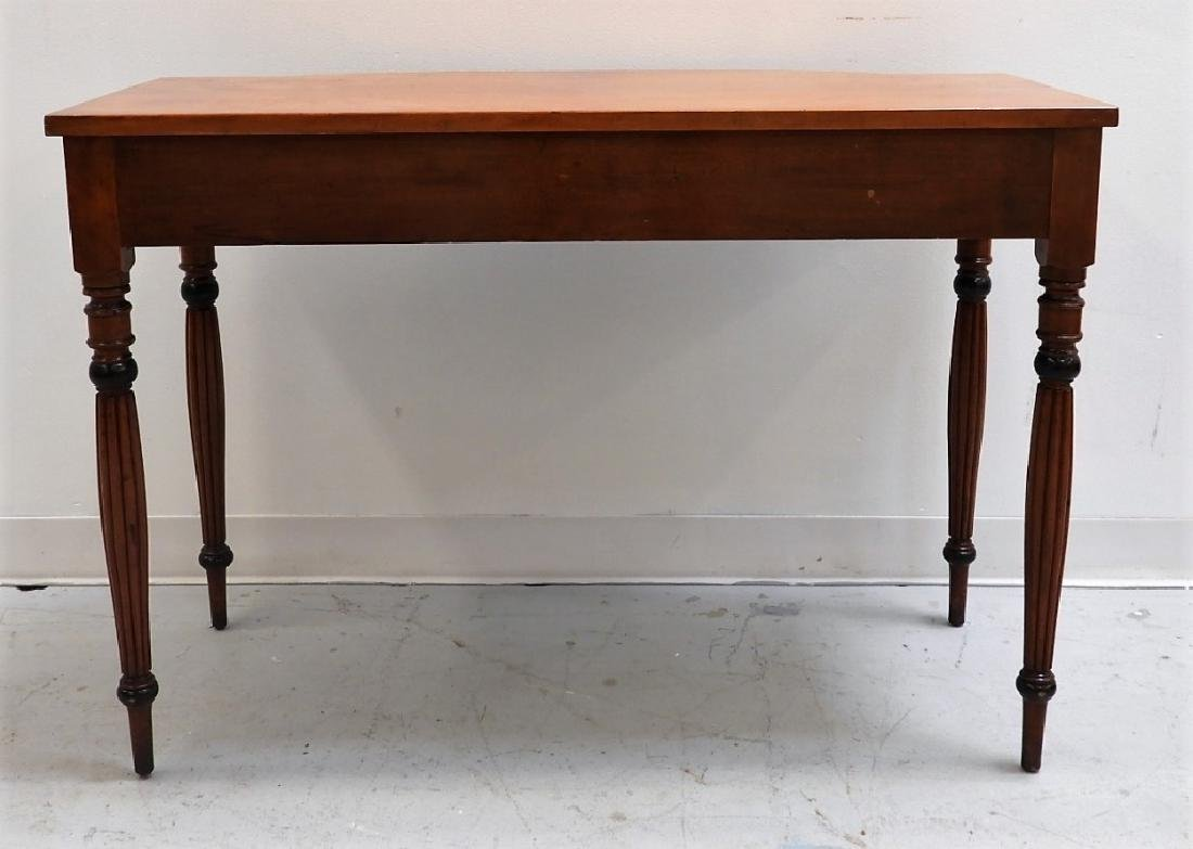 19C. American Sheraton Carved Cherry Console Table - 7