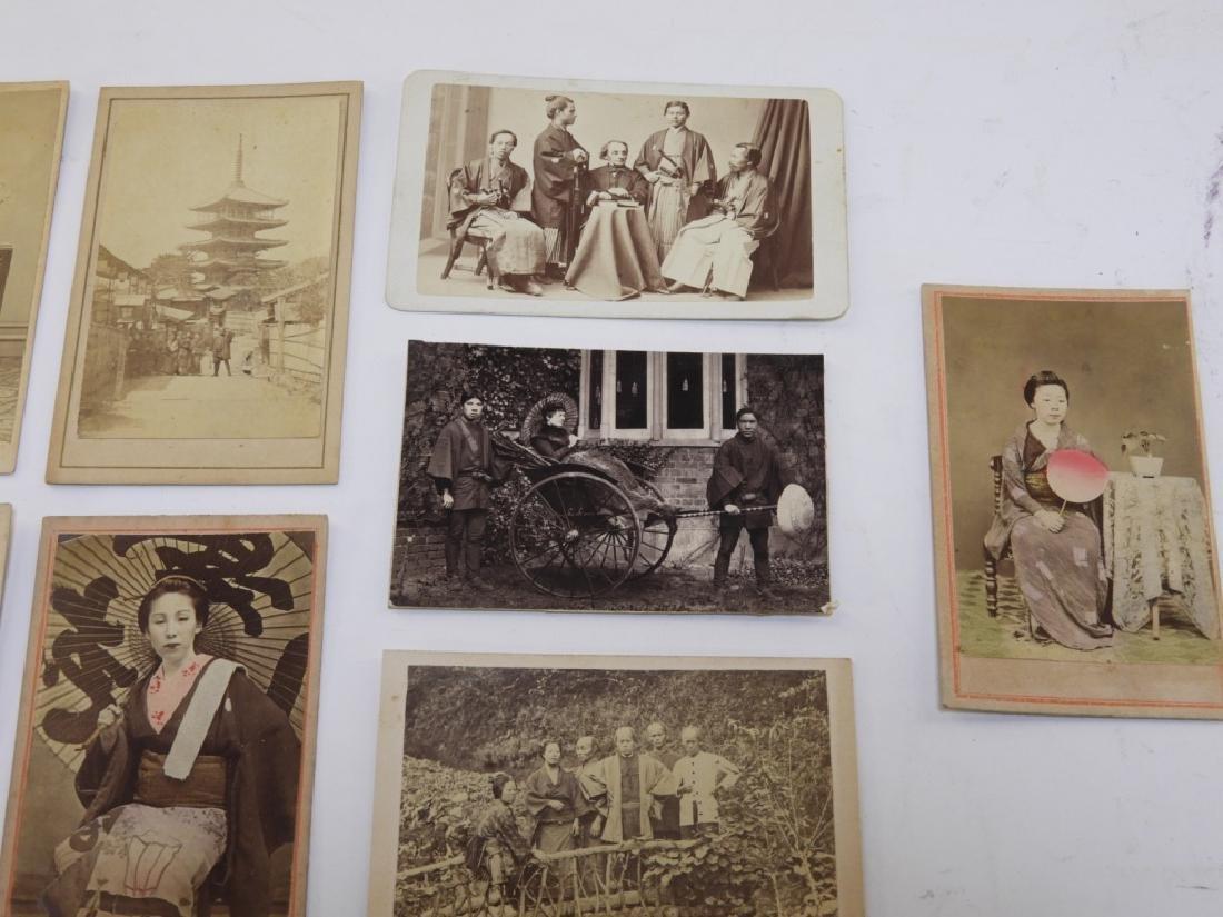 18PC. 19C. Japanese Carte De Visite Photographs - 3