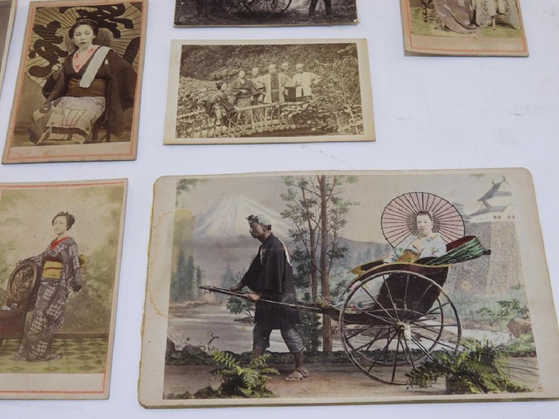 18PC. 19C. Japanese Carte De Visite Photographs - 5