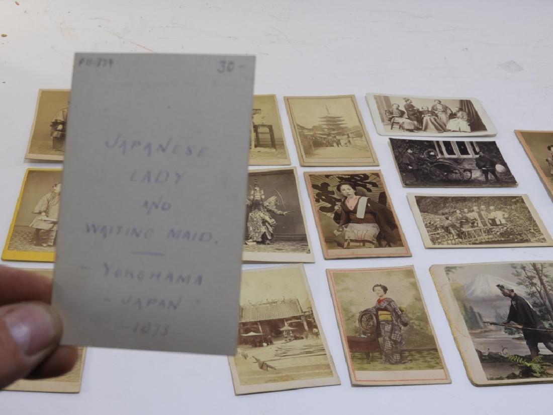 18PC. 19C. Japanese Carte De Visite Photographs - 6
