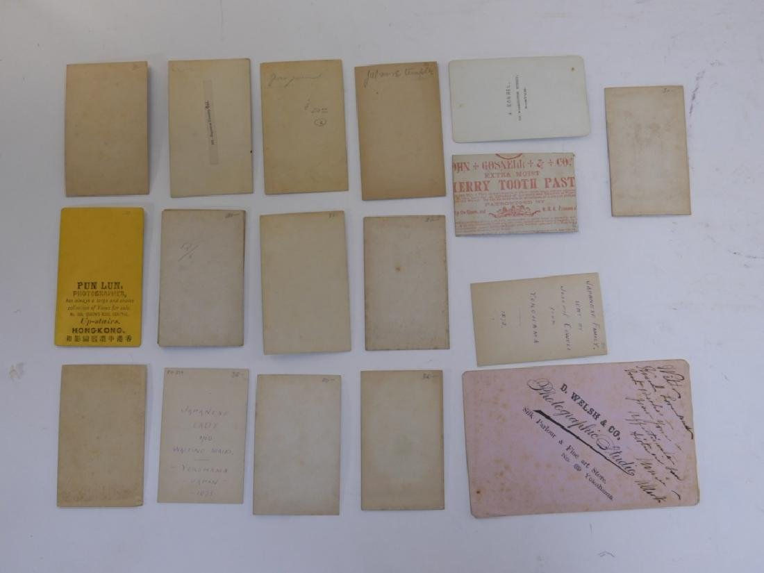 18PC. 19C. Japanese Carte De Visite Photographs - 7