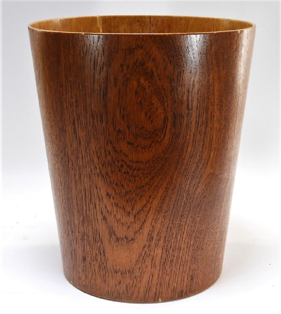 Swedish MCM Sewex Servex Molded Teak Waste Basket