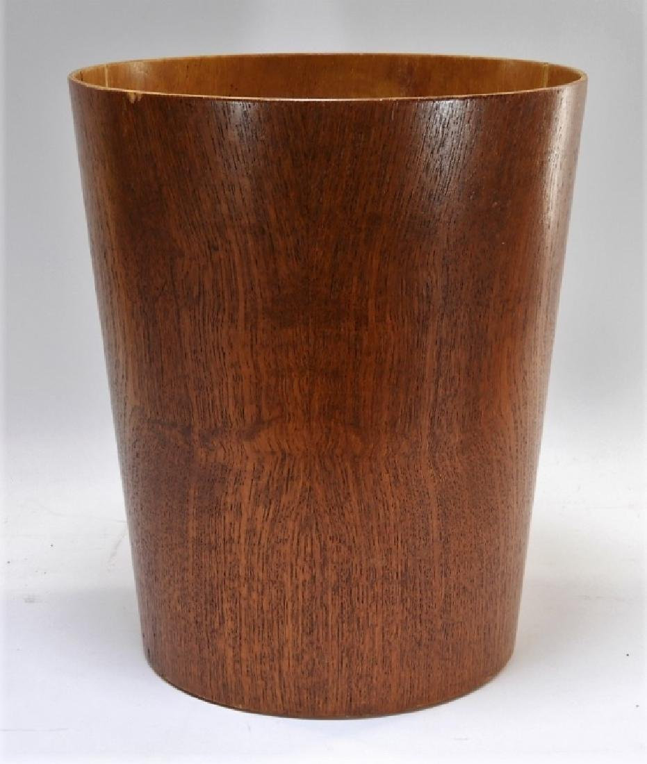 Swedish MCM Sewex Servex Molded Teak Waste Basket - 2