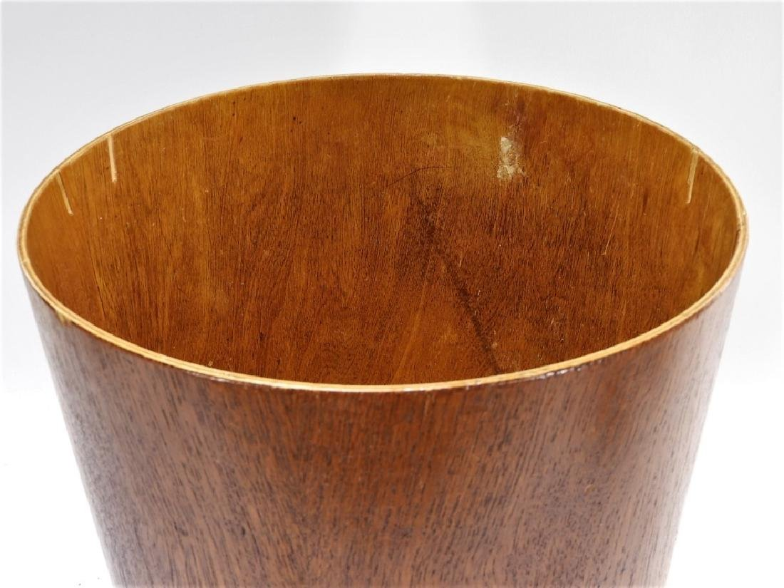 Swedish MCM Sewex Servex Molded Teak Waste Basket - 3