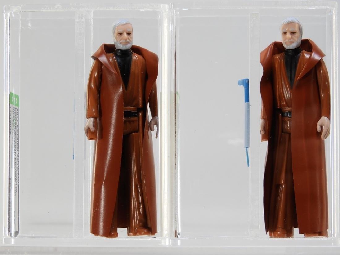 2 1977 Kenner Star Wars Ben Obi-Wan Kenobi AFA 85