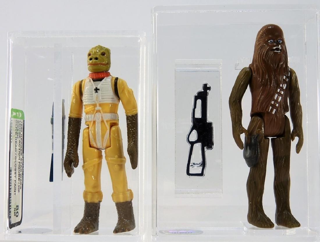 2 Kenner Star Wars Bossk Chewbacca AFA 80 CAS 75