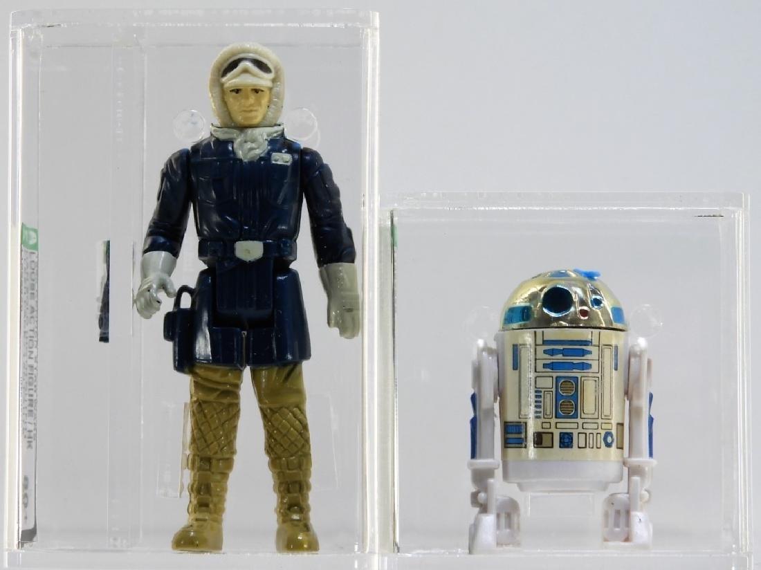 2 Kenner Star Wars ESB R2-D2 Hans Solo Hoth AFA 80