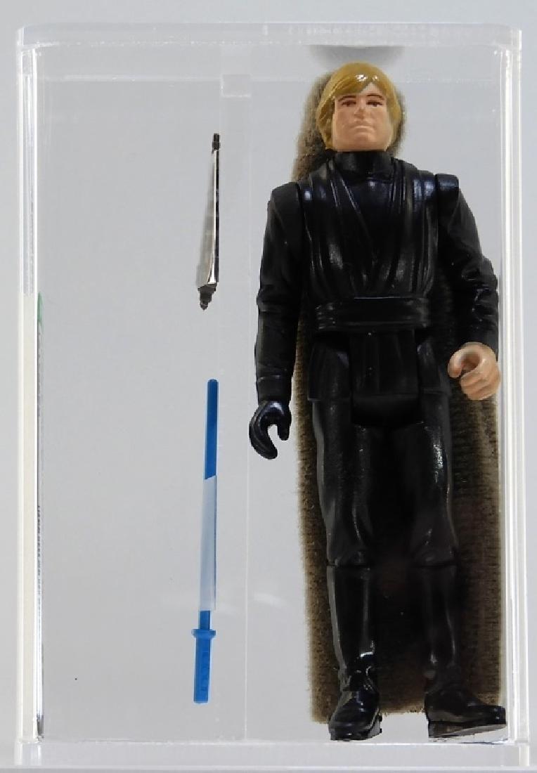 1983 Star Wars Luke Jedi Knight Blue Saber AFA 85