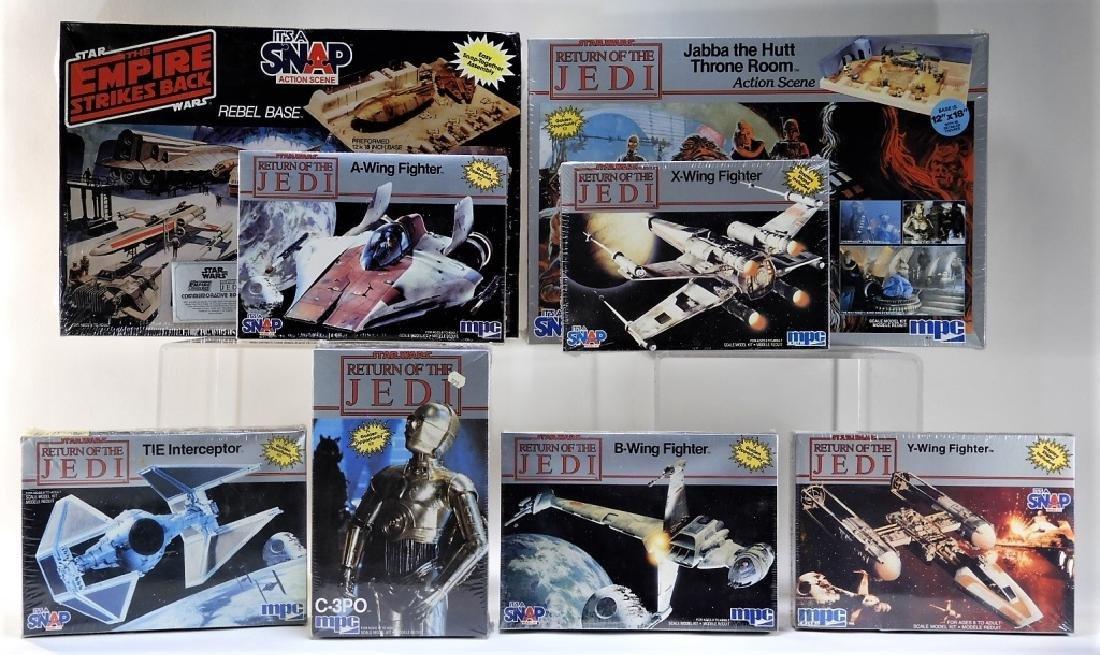8PC MPC Star Wars ESB ROTJ Model Kits MISB