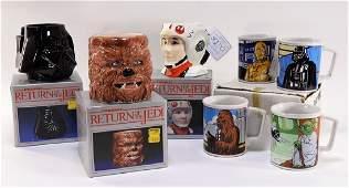 7PC 1983 Sigma Porcelain Star Wars ROTJ Mugs