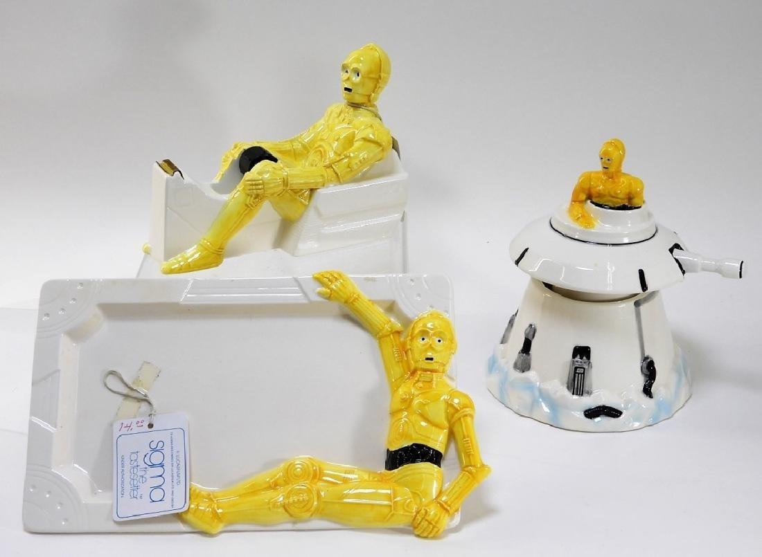 3PC 1983 Sigma Porcelain Star Wars C-3PO Group
