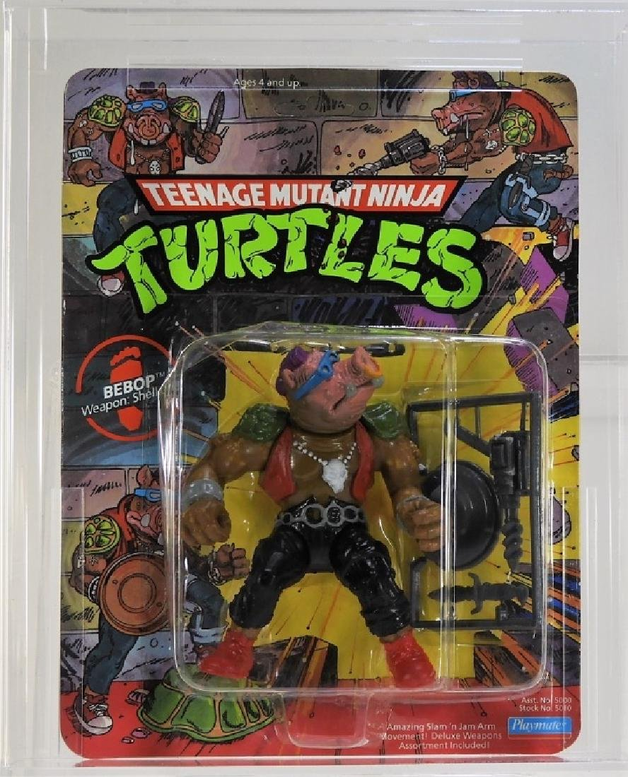 1988 Playmates TMNT 10 Back Bebop Softhead CAS 80