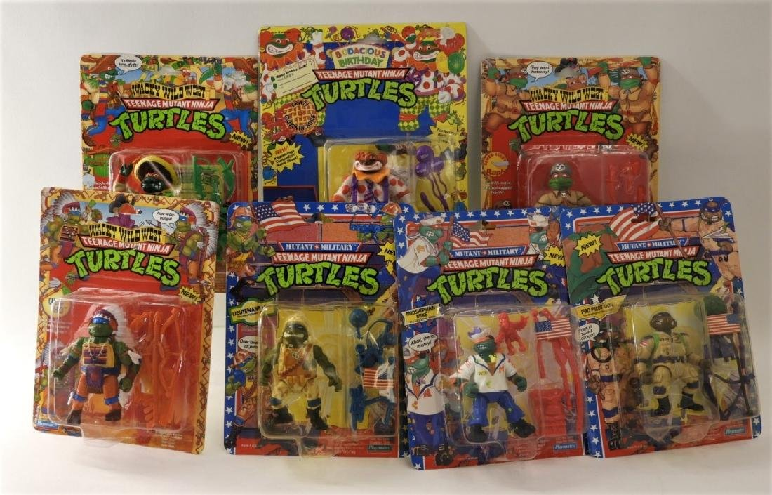7PC Vintage Playmates TMNT Action Figures MOSC