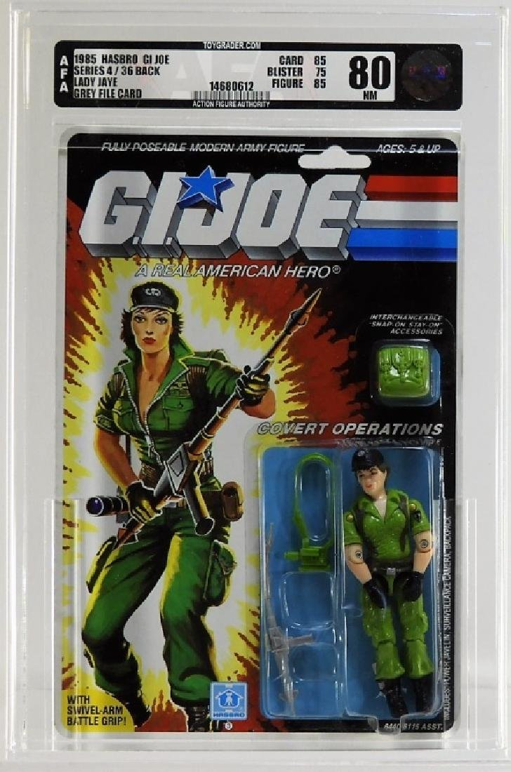 1985 Hasbro GI Joe Series 4 Lady Jaye AFA 80