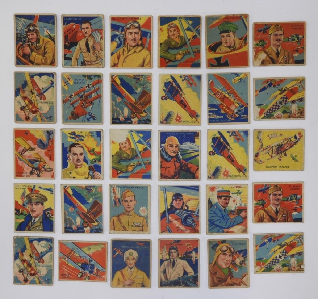 30 1934 National Chicle Co Sky Birds Trading Cards