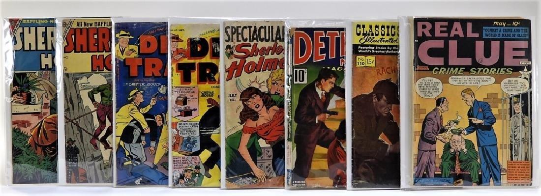 8 Golden Age Sherlock Holmes Dick Tracy Comics