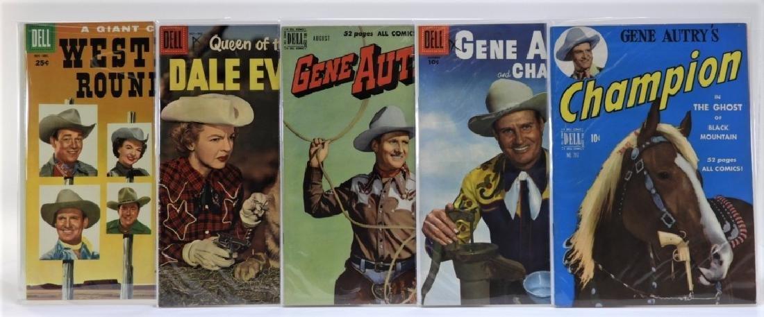 5 Golden Age Dell Western Comic Books CBCS