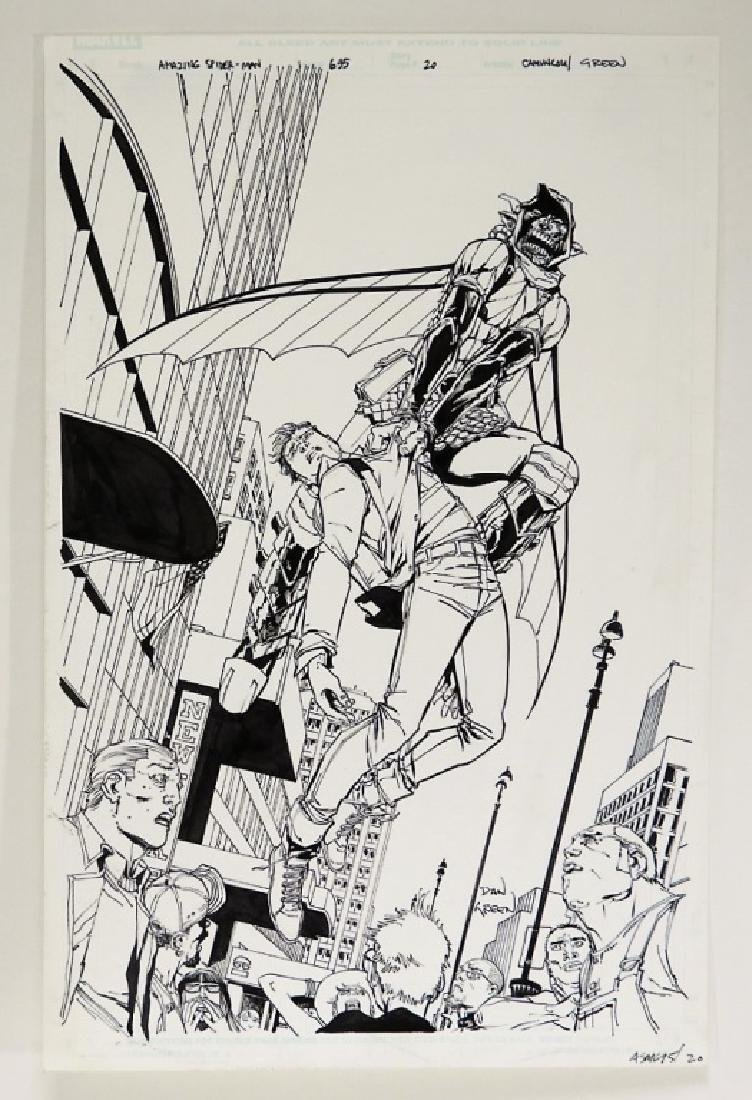 G. Camuncoli Dan Green Amazing Spider-Man #695 Art
