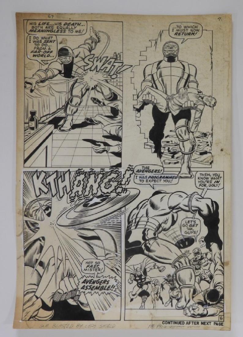 Sal Buscema Sam Grainger Avengers #69 Page 6 Art