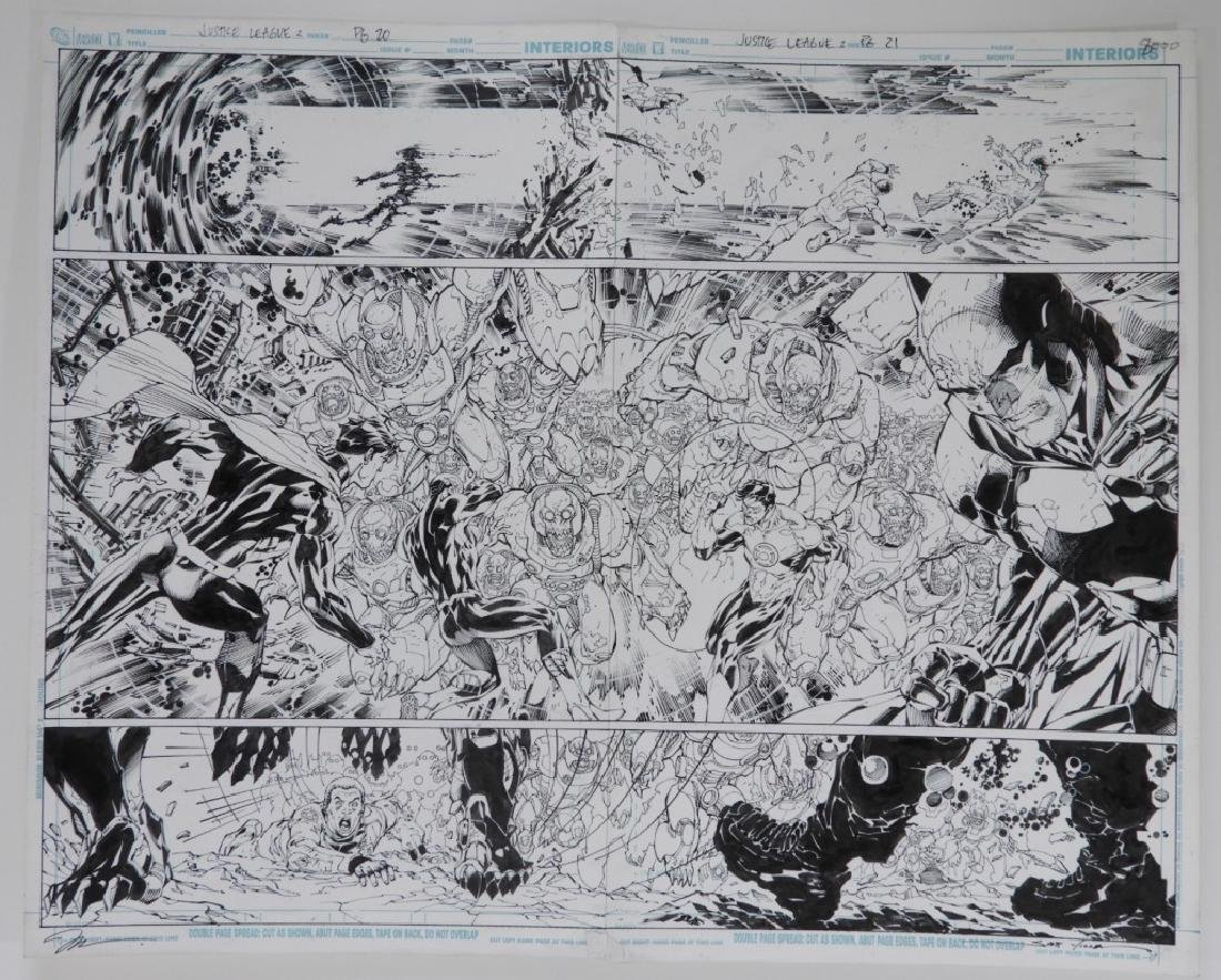 Jim Lee Scott Williams Justice League Orignal Art