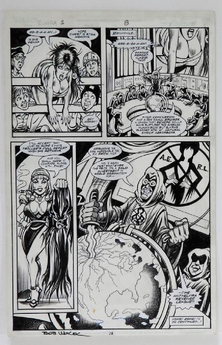 Bob Wiacek Elvira Mistress of Darkess Original Art