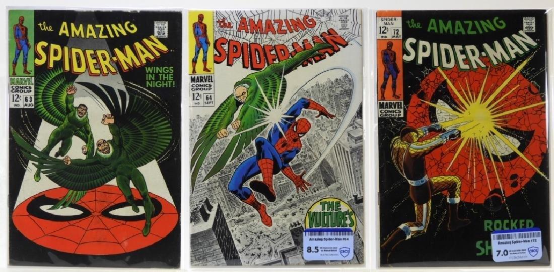 3 Marvel Comics Amazing Spider-Man No.63 64 72