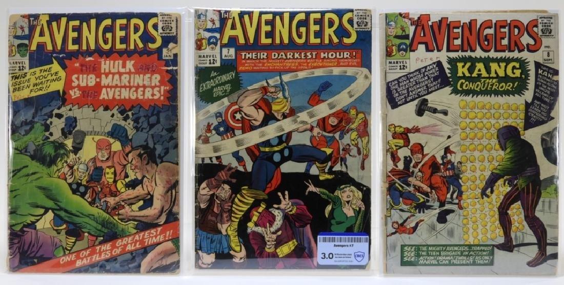 3 Marvel Comics Avengers Comic Books No.3 7 8 CBCS