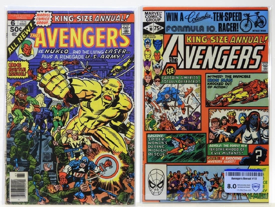 2 Marvel Comics Avengers King Size Annual No.6 10