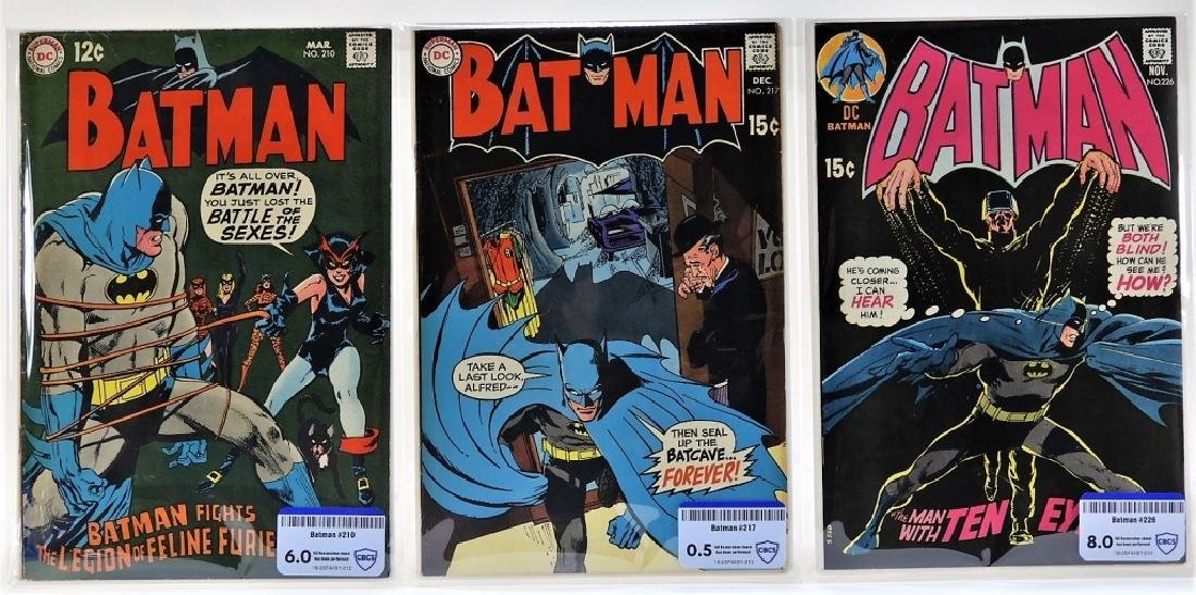 3 DC Comics Batman No.210 217 226 CBCS Graded