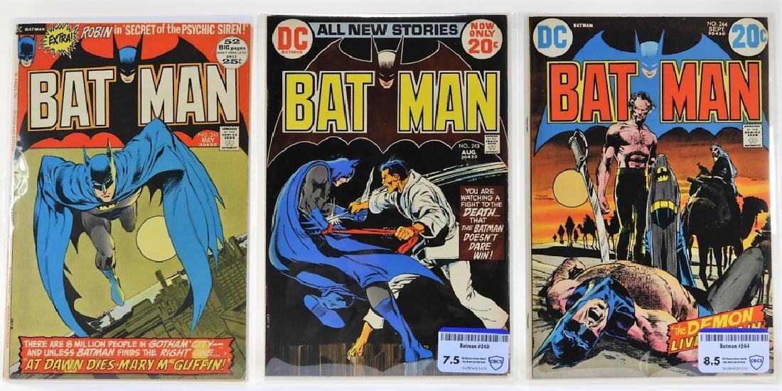 3 DC Comics Batman No.241 243 244 CBCS 7.5 8.0